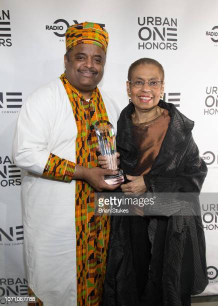 Roland Martin and Congresswoman Eleanor Holmes Norton attend 2018 Urban One Honors at The Anthem on December 9 2018 in Washington DC