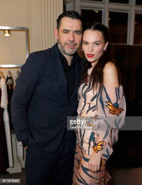 Roland Mouret and Anna Brewster attend the launch of Roland Mouret's debut fragrance 'Une Amourette' in collaboration with Etat Libre on November 23...