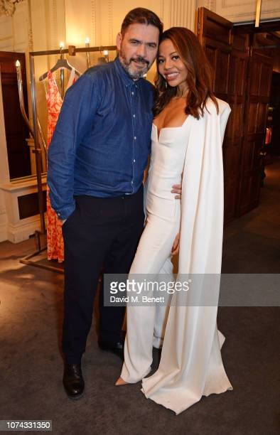 Roland Mouret and Emma Weymouth attend the launch of new book Provoke Attract Seduce by Roland Mouret on December 17 2018 in London England