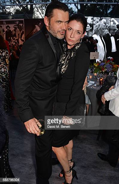 Roland Mouret and Mary McCartney attend British Vogue's Centenary gala dinner at Kensington Gardens on May 23 2016 in London England