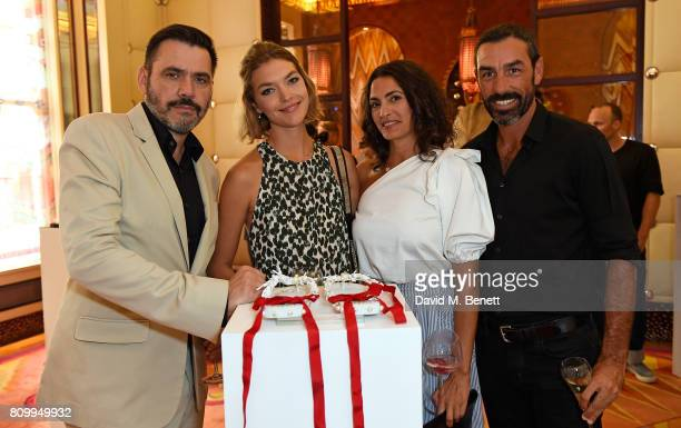 Roland Mouret Arizona Muse Jessica LemariePires and Robert Pires attend a private dinner to celebrate the Havaianas Art Auction in aid of Women for...