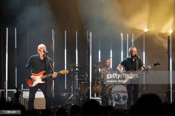 Roland Orzabal and Curt Smith of Tears for Fears performs at First Direct Arena Leeds on February 09, 2019 in Leeds, England.
