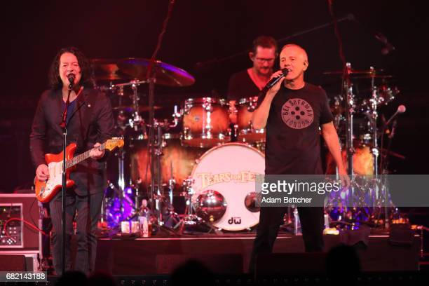 Roland Orzabal and Curt Smith of the band Tears for Fears open for Hall and Oates at Xcel Energy Center on May 11 2017 in St Paul Minnesota