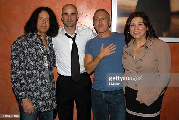 Roland Orzabal, Andre Agassi Curt Smith and Debra Baum