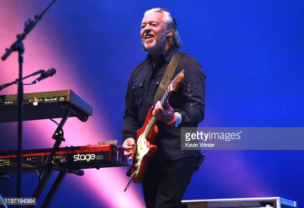 Roland Orzabal of Tears For Fears performs onstage with Weezer at Coachella Stage during the 2019 Coachella Valley Music And Arts Festival on April...