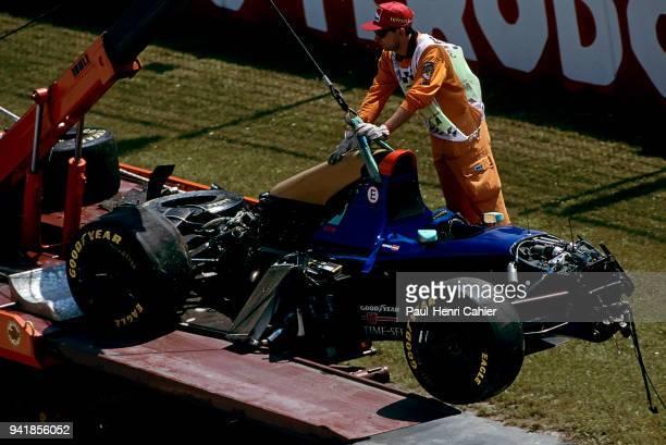 Roland Ratzenberger SimtekFord S941 Grand Prix of San Marino Autodromo Enzo e Dino Ferrari Imola 01 May 1994 The remains of Roland Razenberger's car...
