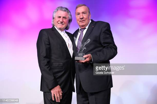 Roland Rauschmayer Frank Fleschenberg during the 7th Fashion Charity Dinner and the Best of Awards at Hotel Leonardo Royal on April 29 2019 in Munich...