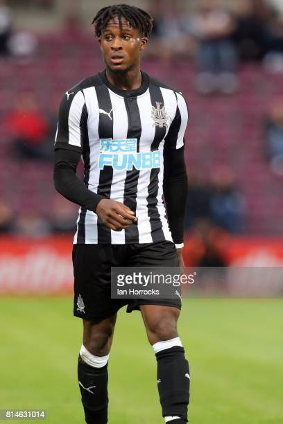 Rolando Aarons of Newcastle during a preseason friendly match between Heart of Midlothian and Newcastle United on July 14 2017 in Edinburgh Scotland