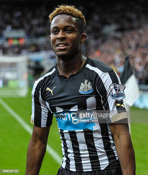 Rolando Aarons of Newcastle during the Barclays Premier League match between Newcastle United and Liverpool at StJames' Park on November 1 in...