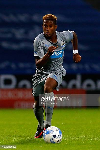 Rolando Aarons of Newcastle in action during the Pre Season Friendly match between Huddersfield Town and Newcastle United at the John Smith's Stadium...