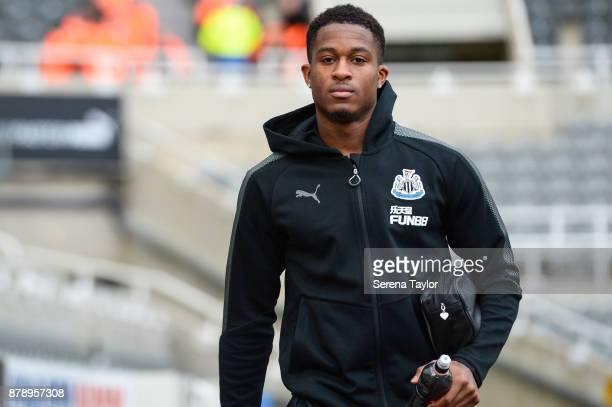 Rolando Aarons of Newcastle United arrives for the Premier League match between Newcastle United and Watford FC at tStJames' Park on November 25 in...