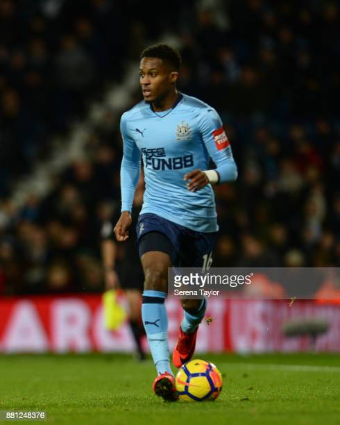 Rolando Aarons of Newcastle United controls the ball during the Premier League match between West Bromwich Albion and Newcastle United at The...
