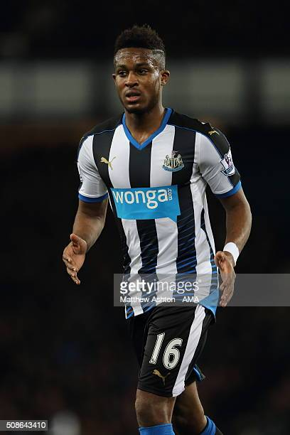 Rolando Aarons of Newcastle United during the Barclays Premier League match between Everton and Newcastle United at Goodison Park on February 03 2016...