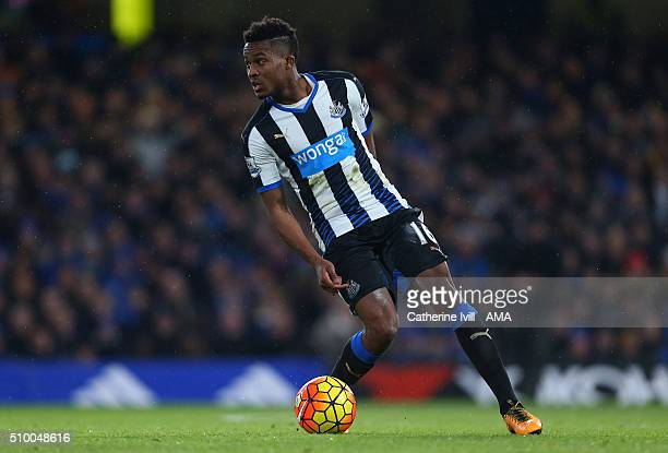 Rolando Aarons of Newcastle United during the Barclays Premier League match between Chelsea and Newcastle United at Stamford Bridge on February 13...