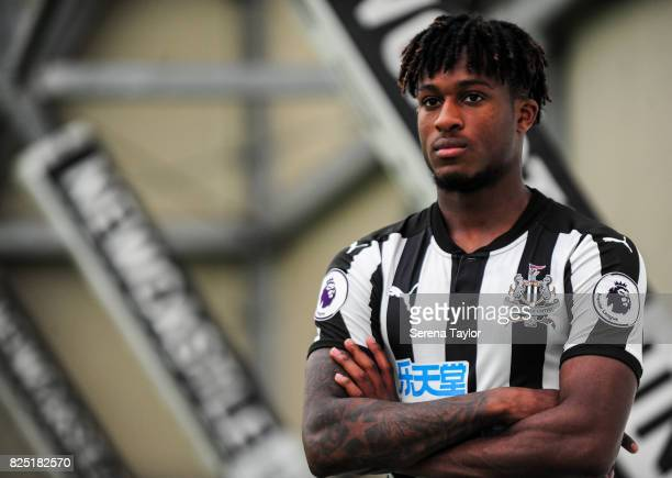 Rolando Aarons poses during the Newcastle United Media Photo Call Day at the Newcastle United Training ground on July 31 in Newcastle upon Tyne...