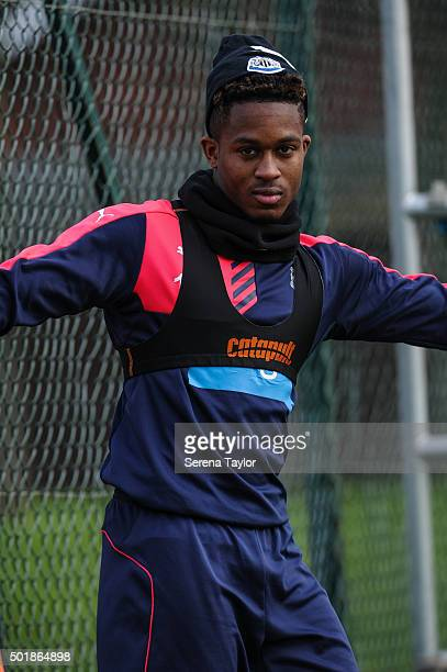 Rolando Aarons walks out during the Newcastle United training session at The Newcastle United Training Centre on December 18 in Newcastle upon Tyne...
