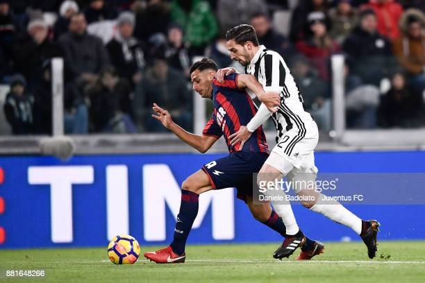 Rolando Mandragora and Mattia De Sciglio during the Serie A match between Juventus and FC Crotone at Allianz Stadium on November 26 2017 in Turin...
