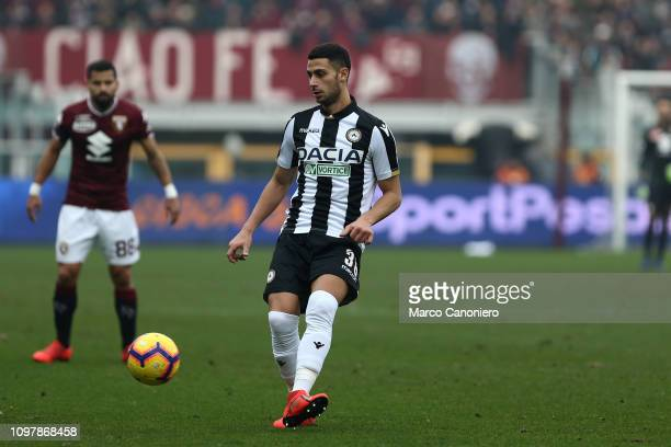 Rolando Mandragora of Udinese Calcio in action during the Serie A football match between Torino Fc and Udinese Calcio. Torino Fc wins 1-0 over...