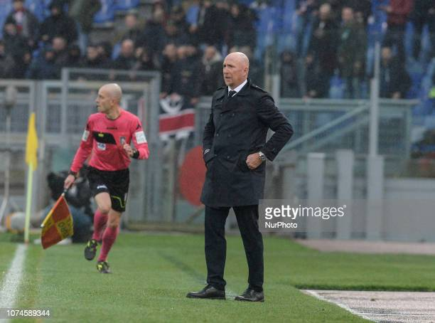 Rolando Maran during the Italian Serie A football match between SS Lazio and Cagliari at the Olympic Stadium in Rome on december 22 2018