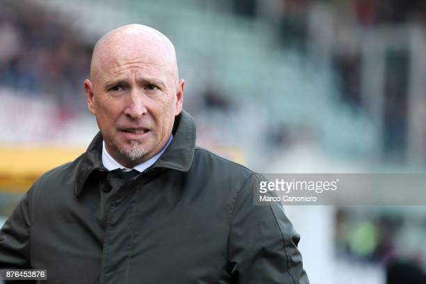 Rolando Maran head coach of Ac Chievo Verona looks on before the Serie A football match between Torino FC and Ac Chievo Verona The match ended in a...