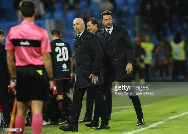 Rolando Maran head coach of Caglari reacts during the Serie A match between SPAL and Cagliari at Stadio Paolo Mazza on November 11 2018 in Ferrara...