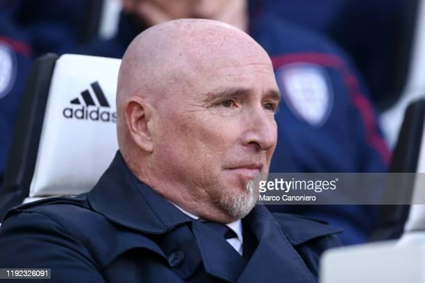 Rolando Maran, head coach of Cagliari Calcio, looks on before the Serie A match between Juventus Fc and Cagliari Calcio. Juventus Fc wins 4-0 over...