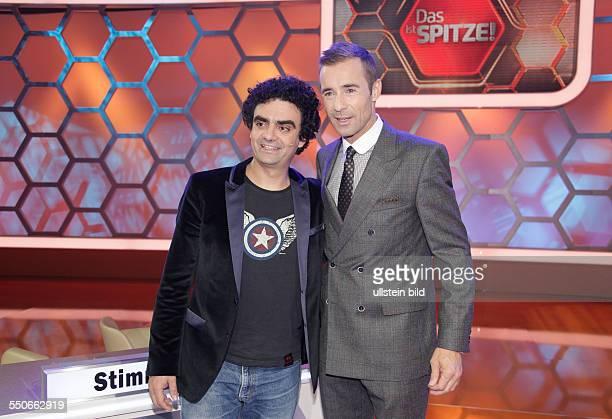 Rolando Villazón und Moderator Kai Pflaume bei Fototermin zur FernsehShow 'Das ist Spitze' mit Kai Pflaume