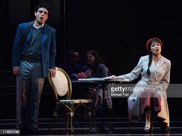 Rolando Villazon and Anna Netrebko during LA Opera Presents Manon Dress Rehearsals September 27 2006 at Dorothy Chandler Pavillion in Los Angeles...