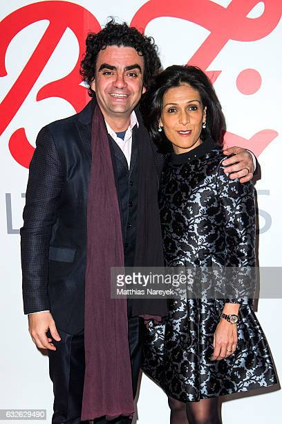 Rolando Villazon and his wife Lucia attend the BZ Kulturpreis 2017 at Staatsoper im Schiller Theater on January 24 2017 in Berlin Germany