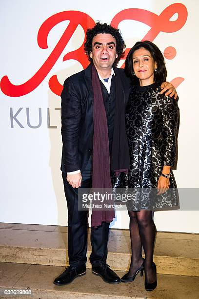Rolando Villazon and his wife Lucia attend the B.Z. Kulturpreis 2017 at Staatsoper im Schiller Theater on January 24, 2017 in Berlin, Germany.