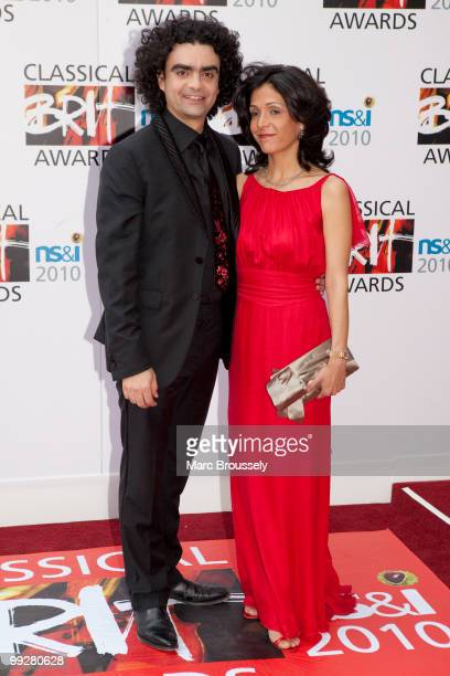 Rolando Villazon and Lucia Villazon attend the Classical BRIT Awards at Royal Albert Hall on May 13 2010 in London England