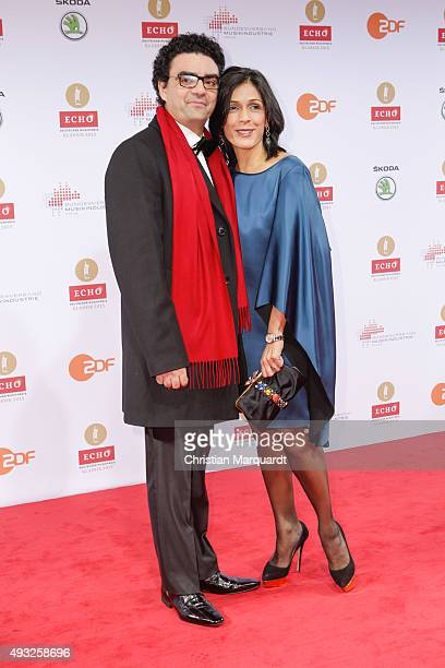 Rolando Villazon and Lucia Villazon attend the ECHO Klassik 2015 at Konzerthaus on October 18, 2015 in Berlin, Germany.