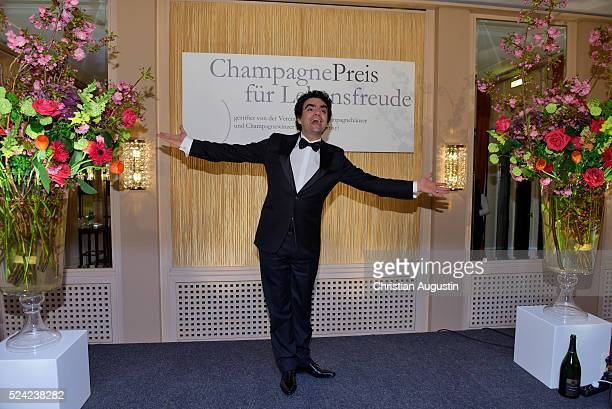 Rolando Villazon attends the 'Champagnepreis fuer Lebensfreude' at Hotel Louis C Jacob on April 25 2016 in Hamburg Germany