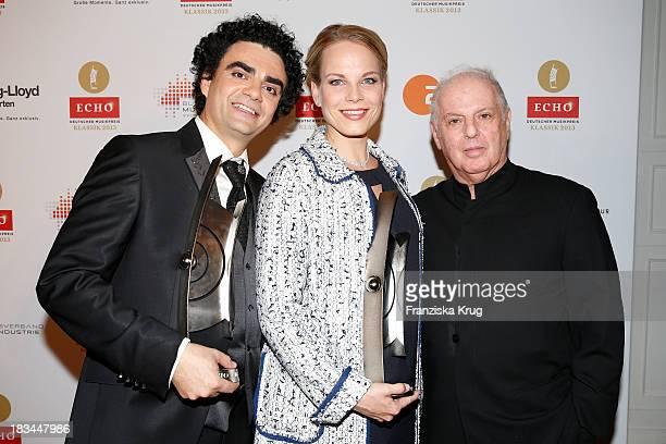 Rolando Villazon Elina Garanca and Daniel Barenboim attend the 'Echo Klassik Awards 2013' at Konzerthaus Berlin on October 06 2013 in Berlin Germany