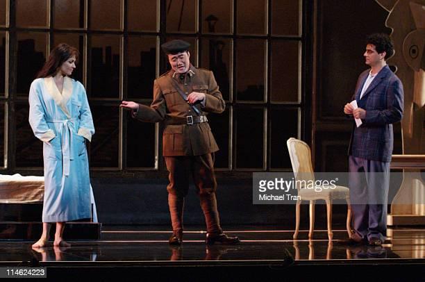 Rolando Villazon Hyung Yun and Anna Netrebko during LA Opera Presents Manon Dress Rehearsals September 27 2006 at Dorothy Chandler Pavillion in Los...