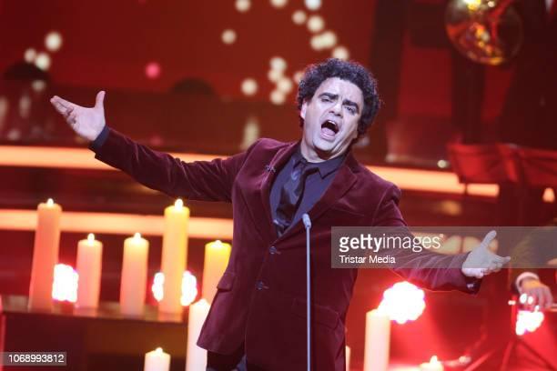 Rolando Villazon performs during the charity tv show 'Die schoensten WeihnachtsHits' in favor of MISEREOR and Brot fuer die Welt on December 5 2018...