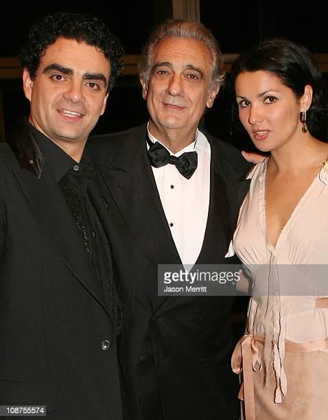 Rolando Villazon Placido Domingo and Anna Netrebko