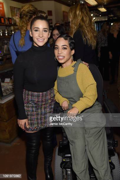 Role Model Aly Raisman and Jill Mercado attend as Aerie celebrates #AerieREAL Role Models in NYC on January 31 2019 in New York City