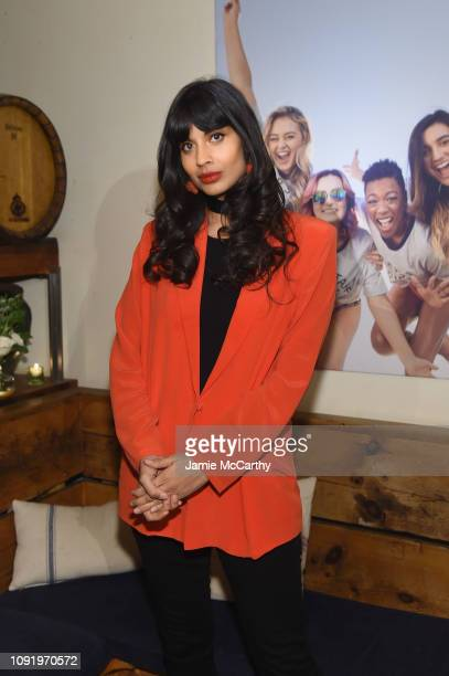 Role Model Jameela Jamil attends as Aerie celebrates #AerieREAL Role Models in NYC on January 31 2019 in New York City