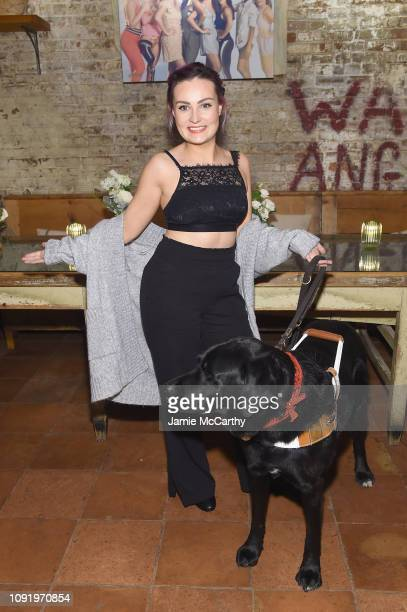 Role Model Molly Burke attends as Aerie celebrates #AerieREAL Role Models in NYC on January 31 2019 in New York City