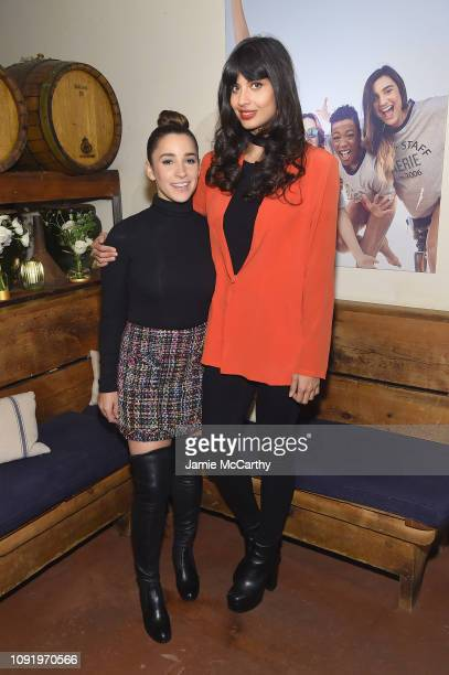 Role Models Aly Raisman and Jameela Jamil attend as Aerie celebrates #AerieREAL Role Models in NYC on January 31 2019 in New York City