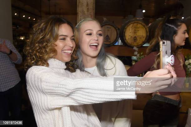 Role Models Cleo Wade and Iskra Lawrence attend as Aerie celebrates #AerieREAL Role Models in NYC on January 31 2019 in New York City