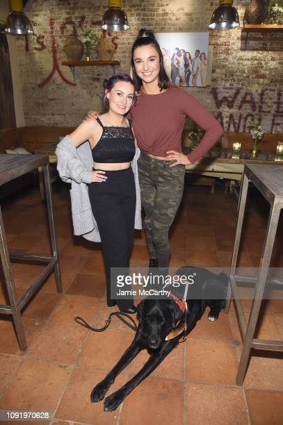 Role Models Molly Burke and Brenna Huckaby attend as Aerie celebrates #AerieREAL Role Models in NYC on January 31 2019 in New York City