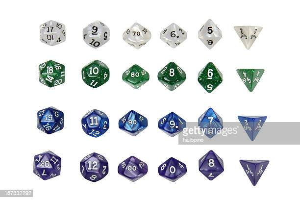 role play dice - number 20 stock pictures, royalty-free photos & images