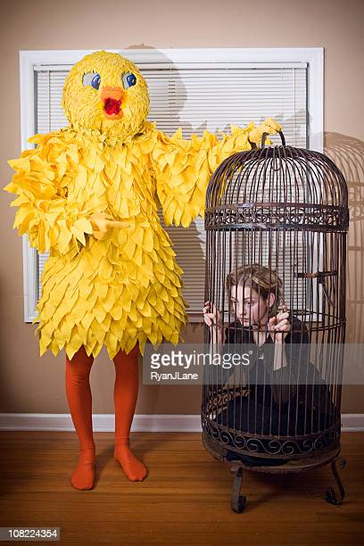 Role Reversal; Big Yellow Bird and Pet Human