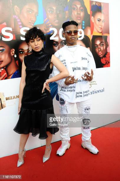 Roleane Nasty C during the Miss South Africa 2019 beauty pageant grand finale at the Time Square Sun Arena on August 09 2019 in Pretoria South Africa...