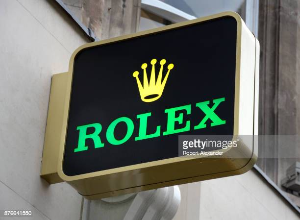 Rolex shop in London England The Swiss luxury watch manufacturer is headquartered in Geneva Switzerland