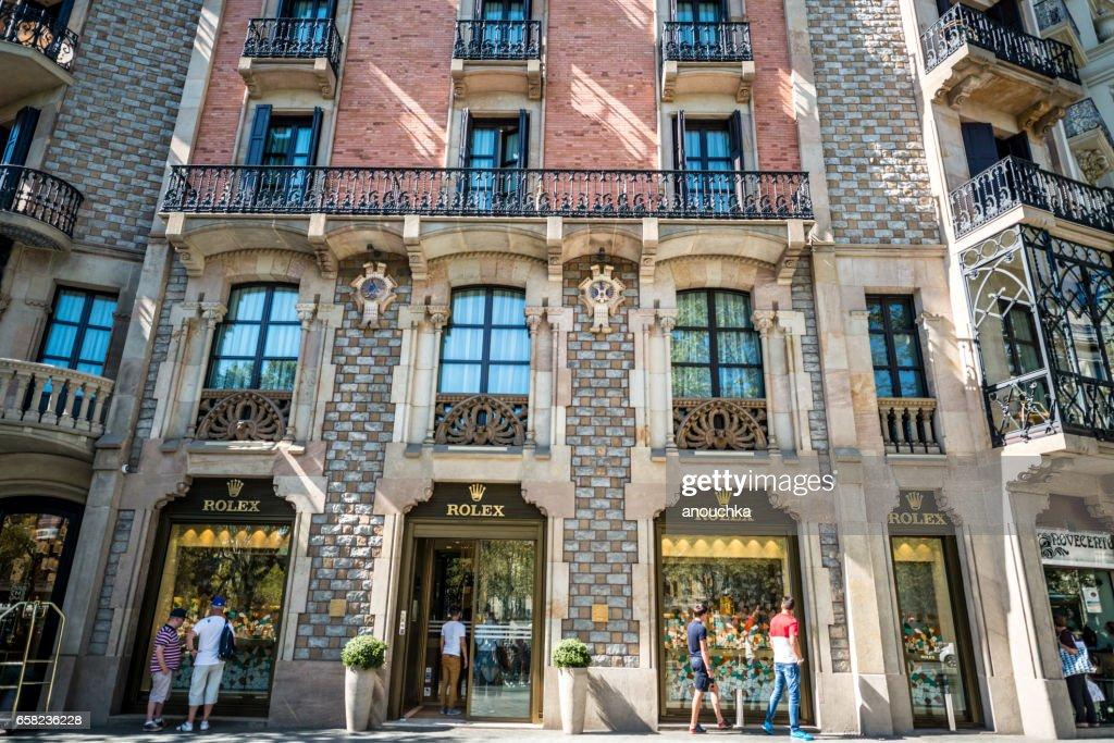 Rolex Store in Barcelona, Spain : Stock Photo