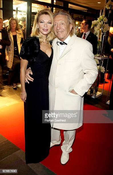 Rolf Eden and wife Brigitte Eden attend the '16th Aids Gala' at Deutsche Oper on November 7 2009 in Berlin Germany