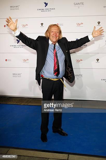 Rolf Eden arrives for the Cinema For Peace 2014 Gala at Konzerthaus Am Gendarmenmarkt on February 10 2014 in Berlin Germany